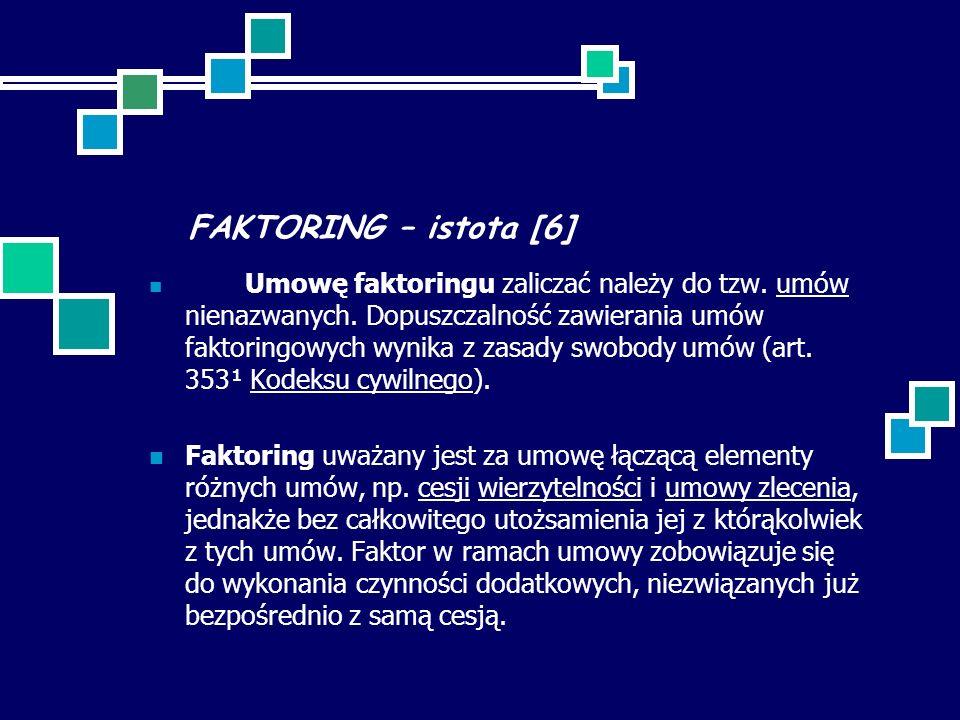 FAKTORING – istota [6]